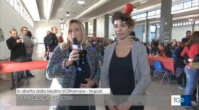 24/12/2017 Pranzo di Natale per gli indigenti alla Mostra d'Oltremare a Napoli