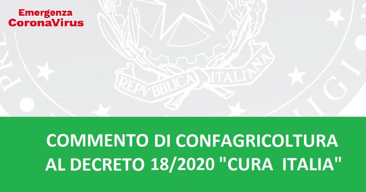 """Commento di Confagricoltura al DL 18/2020 """"Cura Italia"""""""