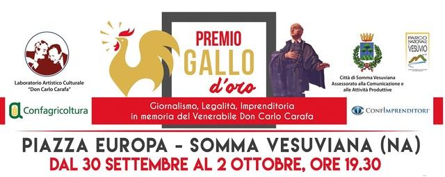 Confagricoltura Napoli partecipa alla manifestazione Premio Gallo D'Oro promosso dal Comune di Somma Vesuviana