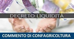 """Commento di Confagricoltura al DL 23/2020 """"Decreto Liquidità"""""""