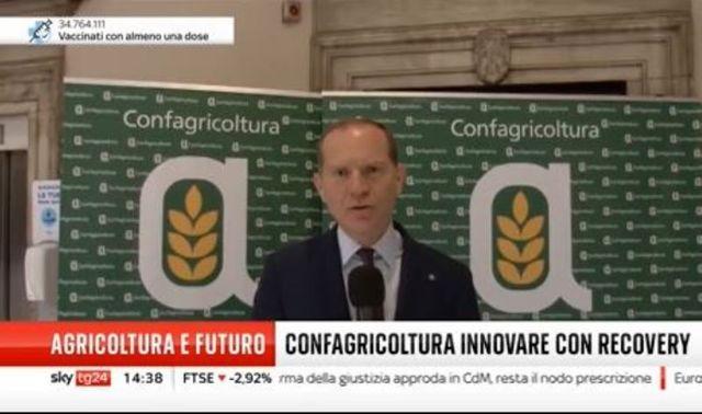 Il presidente Giansanti a Skytg24 a margine dell'Assemblea Confagricoltura